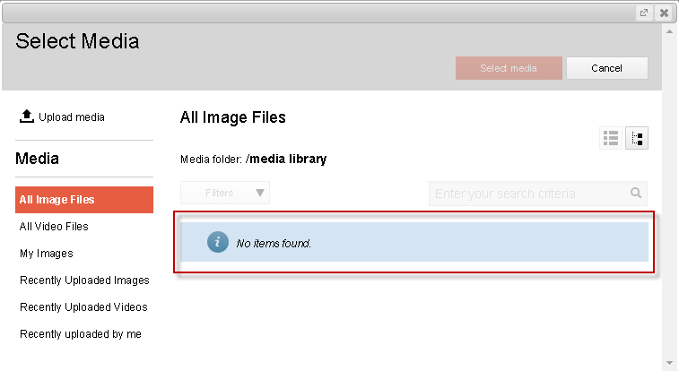 No items found - media library missing items - Sitecore with Solr